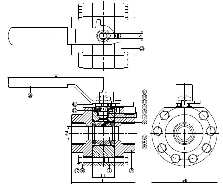 Ball Valve, High Pressure Ball Valve, High Pressure Forged Valve 2013f60 p2